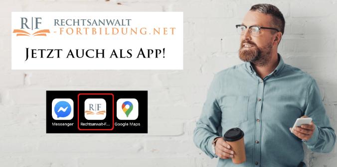 rechtsanwalt-fortbildung.net - Jetztt auch als App!